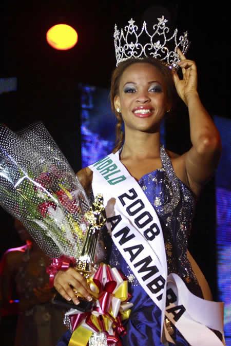 Adaeze Yobo In 2008 as Miss Nigeria