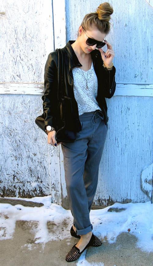 How-to-wear-pajama-pants-Stephanie-Koch