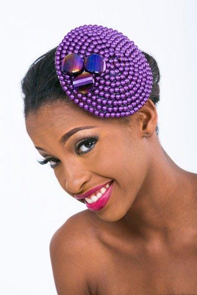 Bead/Coral Hair Beads Hair Fascinator